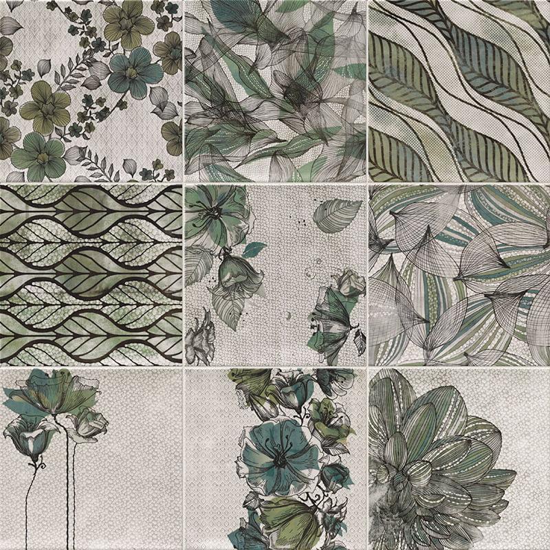 Zen verde deco serie verona mainzu ceramics for Deco mural zen